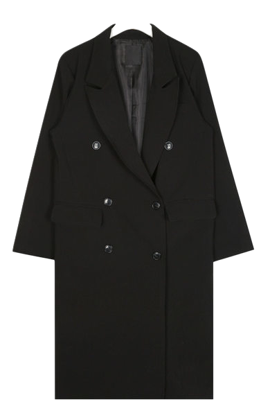 mood double line long coat