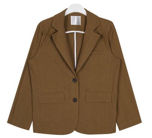 twill simple jacket
