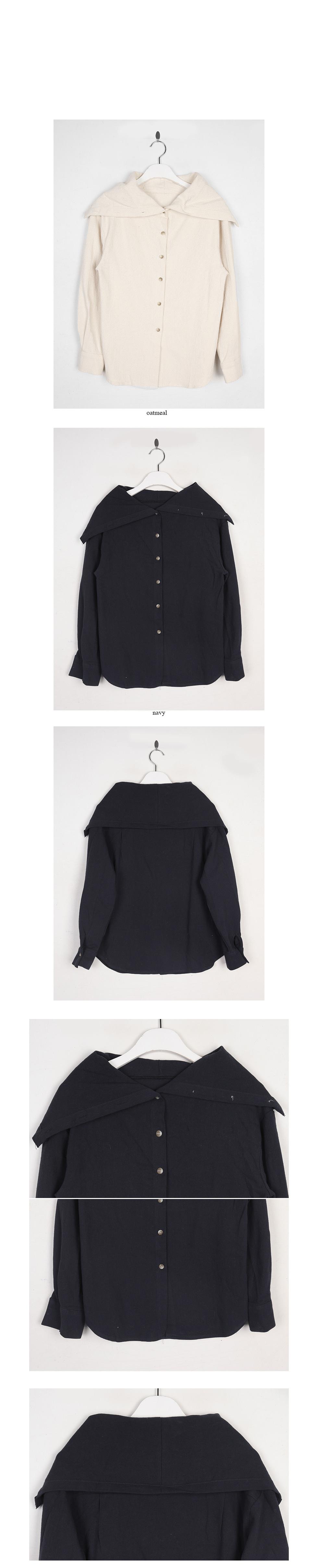 sailor collar cotton shirt