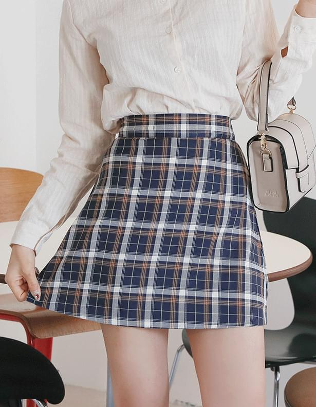 Travel Check Skirt You