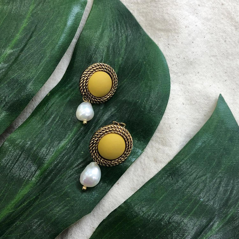 Egg Yellow Earrings