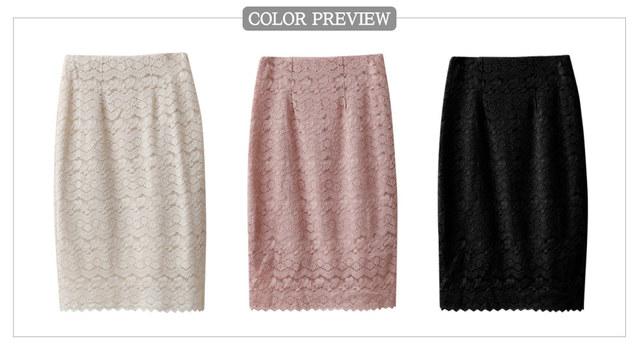 Wavy Lace Skirt