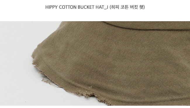 Hippy cotton bucket hat_J