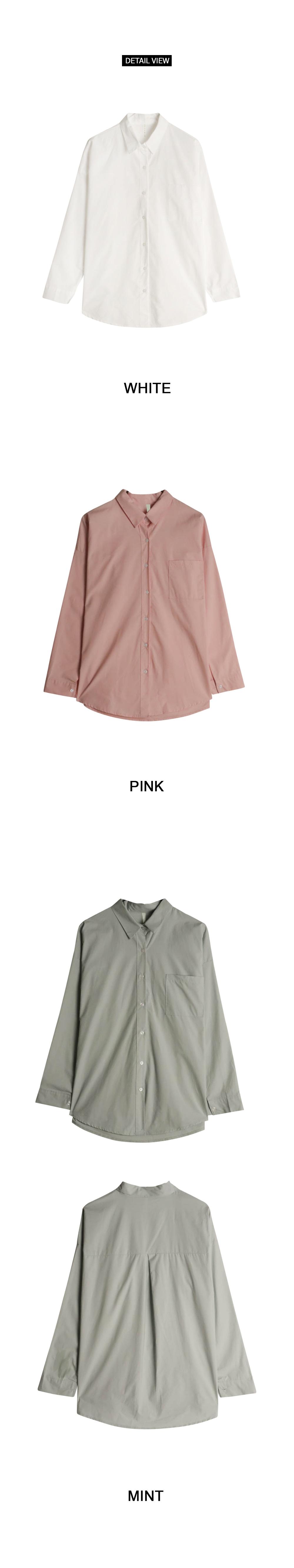 Course over cotton shirt