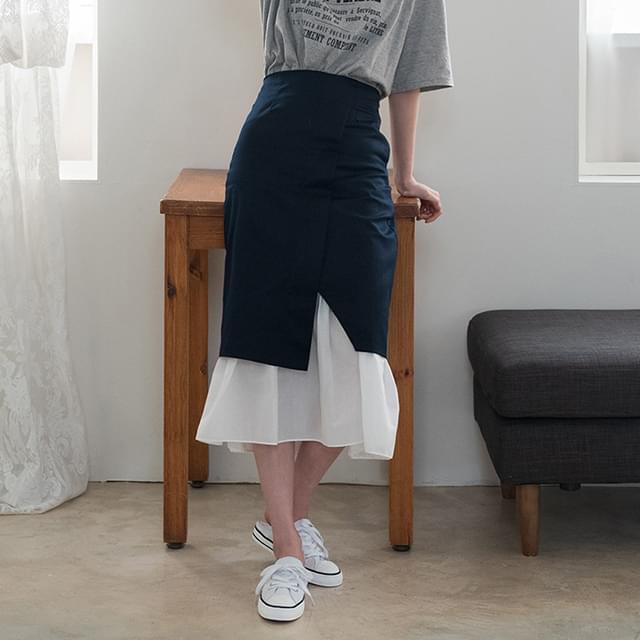 wrap style banding skirt
