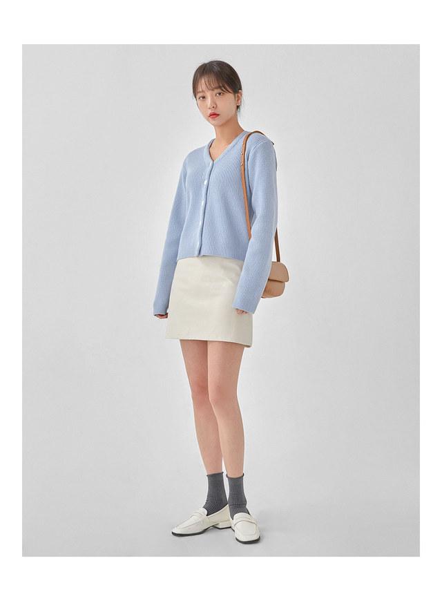 merry leather mini skirt