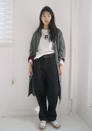 ecru mood cotton trench coat