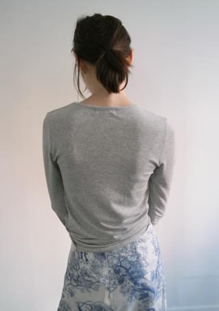 tension long sleeve top
