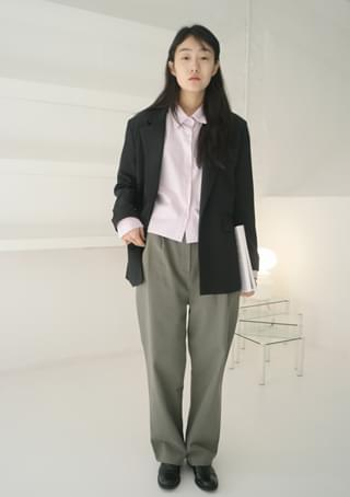 simple one-button jacket