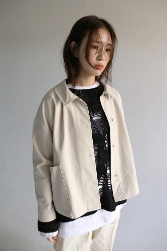 patch pocket over jacket (2colors)