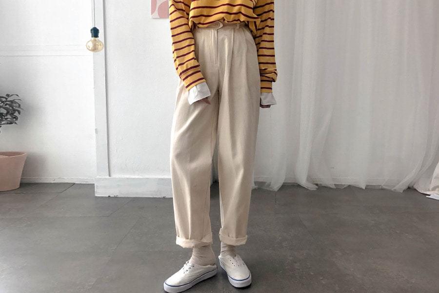 High Waist Pure Cotton Pants