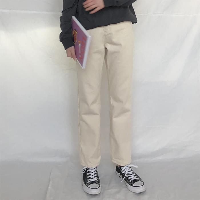 Brushed pants date pants