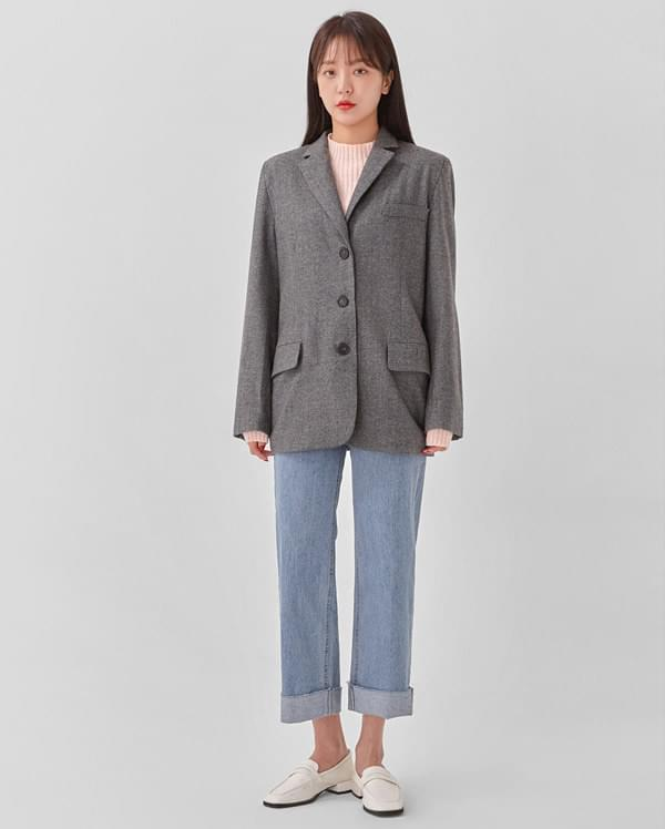 clouds herringbone wool jacket