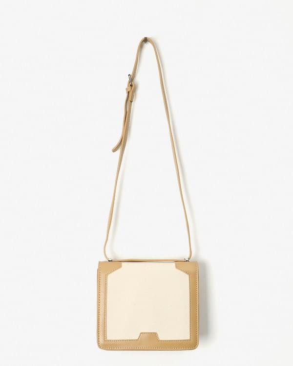 fabric square shoulder bag