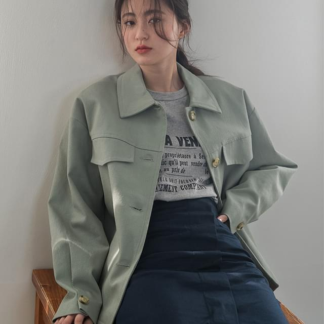 loose pocket cotton jacket