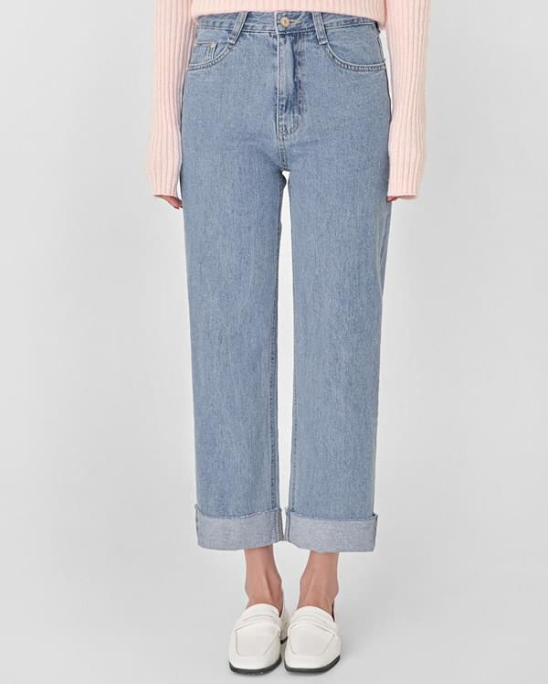 fresh straight denim pants