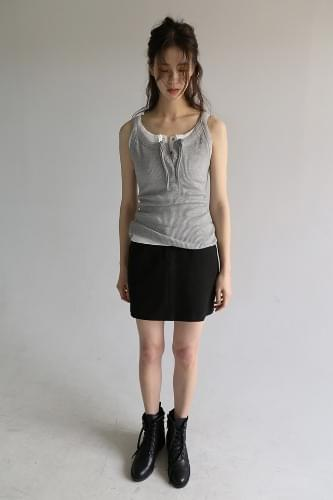 formal h-line mini skirt (4colors)