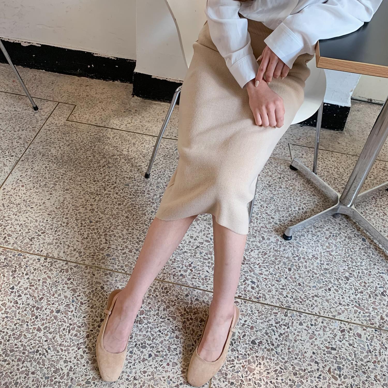 쫀쫀 knit skirt