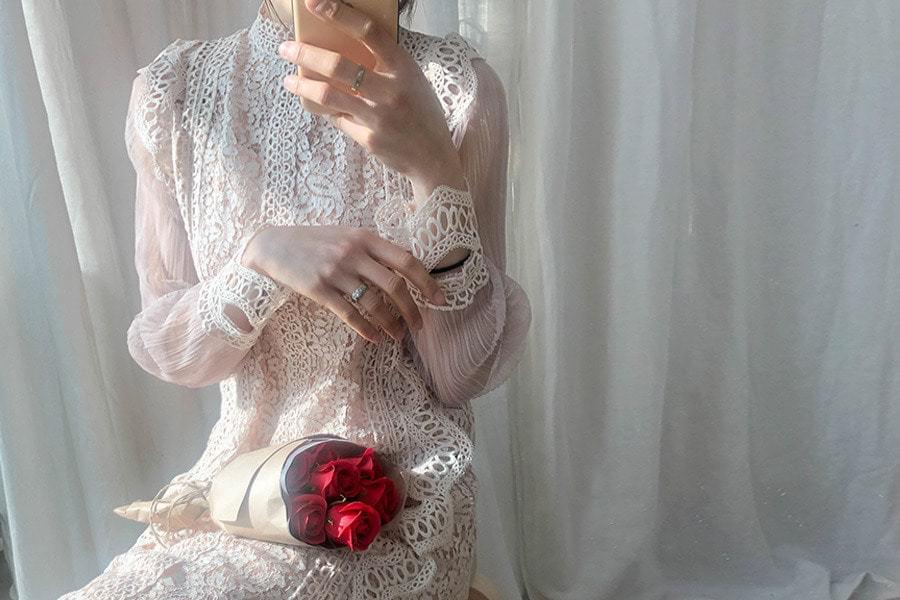 [Nasu One Piece Set] Selena Lace Dress