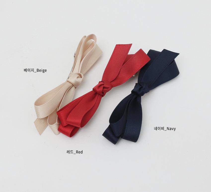 Satin ribbon hair-pin_B