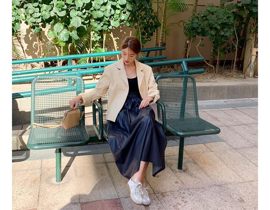 Made_bottom-162_leather banding skirt_K