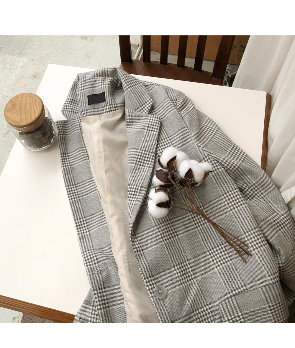 Sarr check long jacket