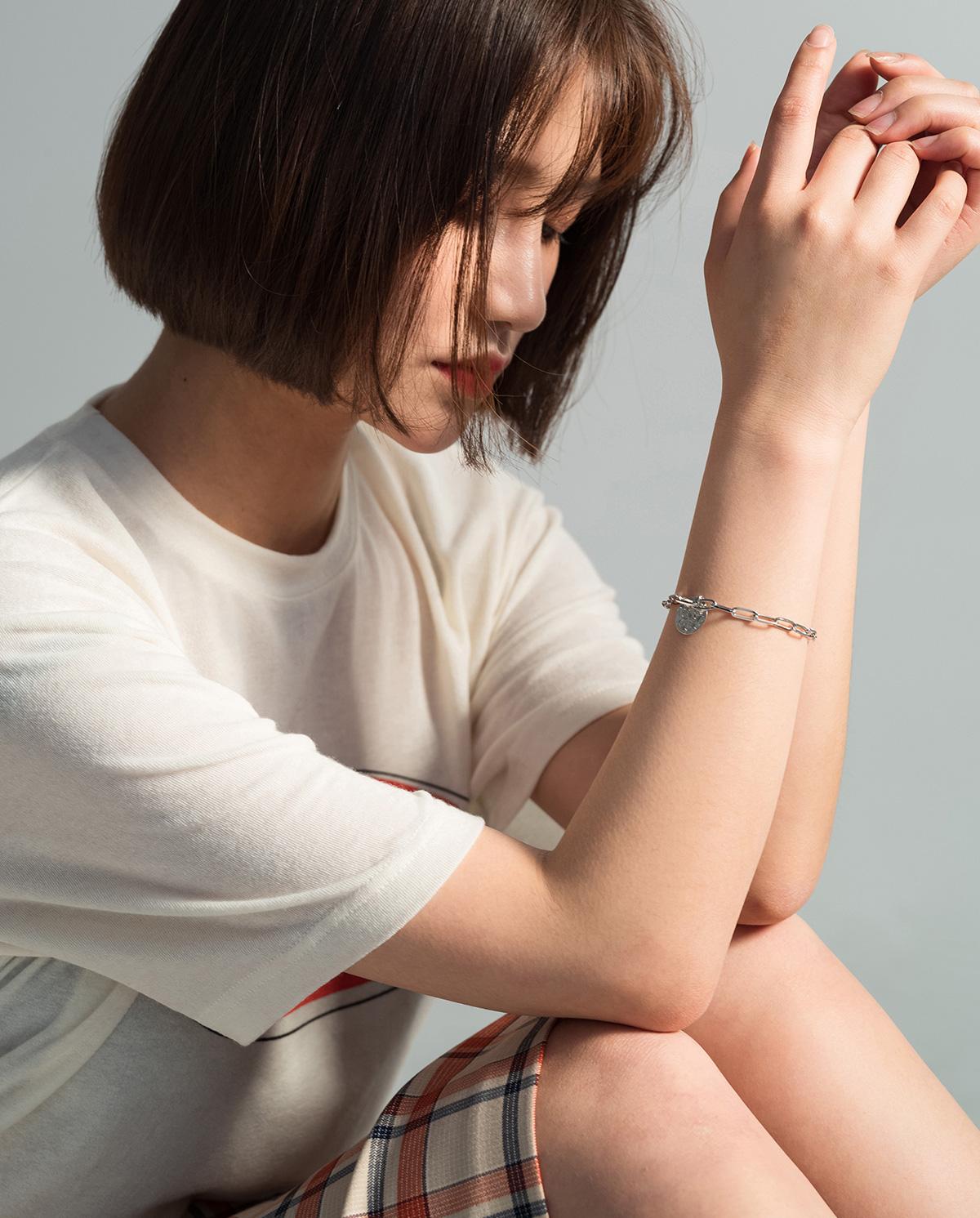 2 color circle bracelet
