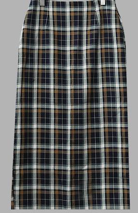 Nunetine check long skirt