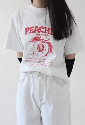 Peachs printing tee