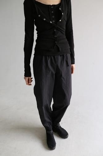 crispy texture jogger pants