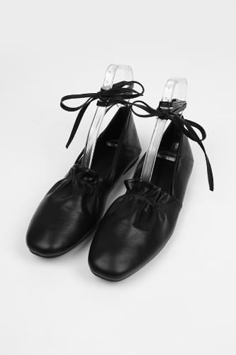 string shirring ballet shoes
