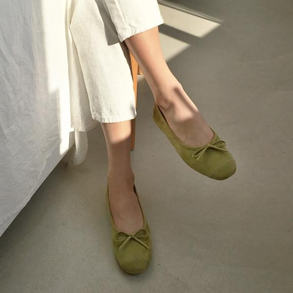 Green Tea Flat Shoes