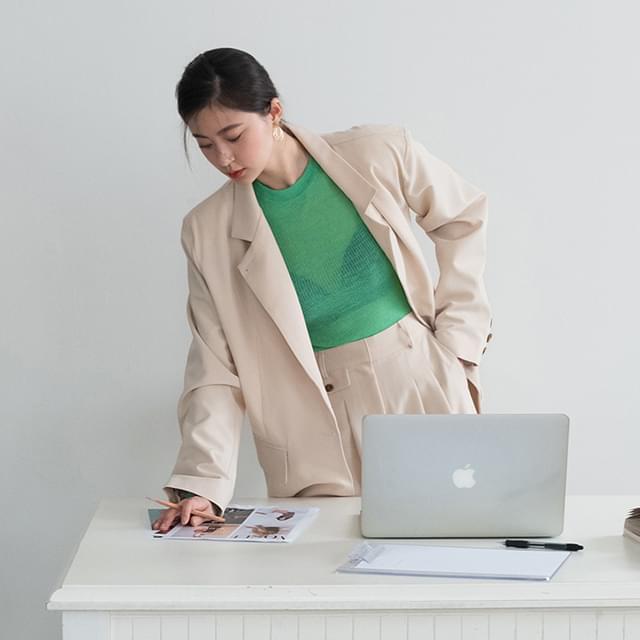 modern one button jacket