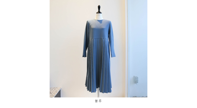 Basic Pleated Long Dress _op02964