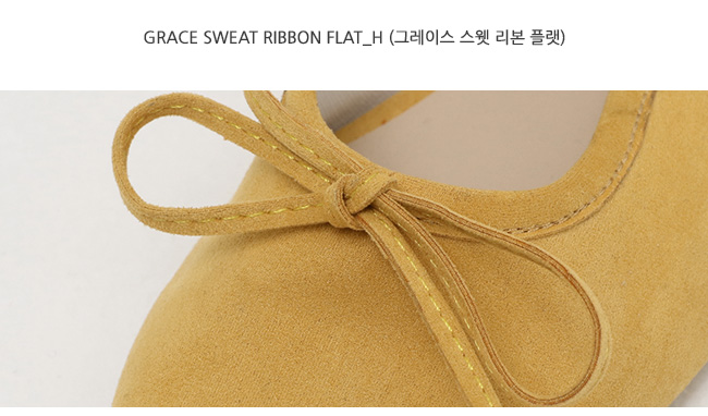Grace sweat ribbon flat_H (size : 225,230,235,240,245,250)