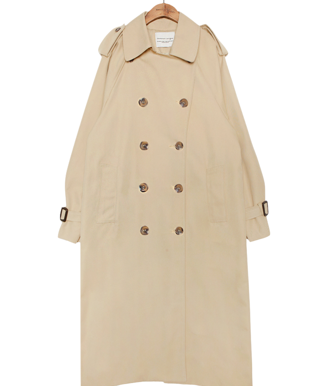 DOUBLE BREAST TRENCH COATWITH CELEBRITY _