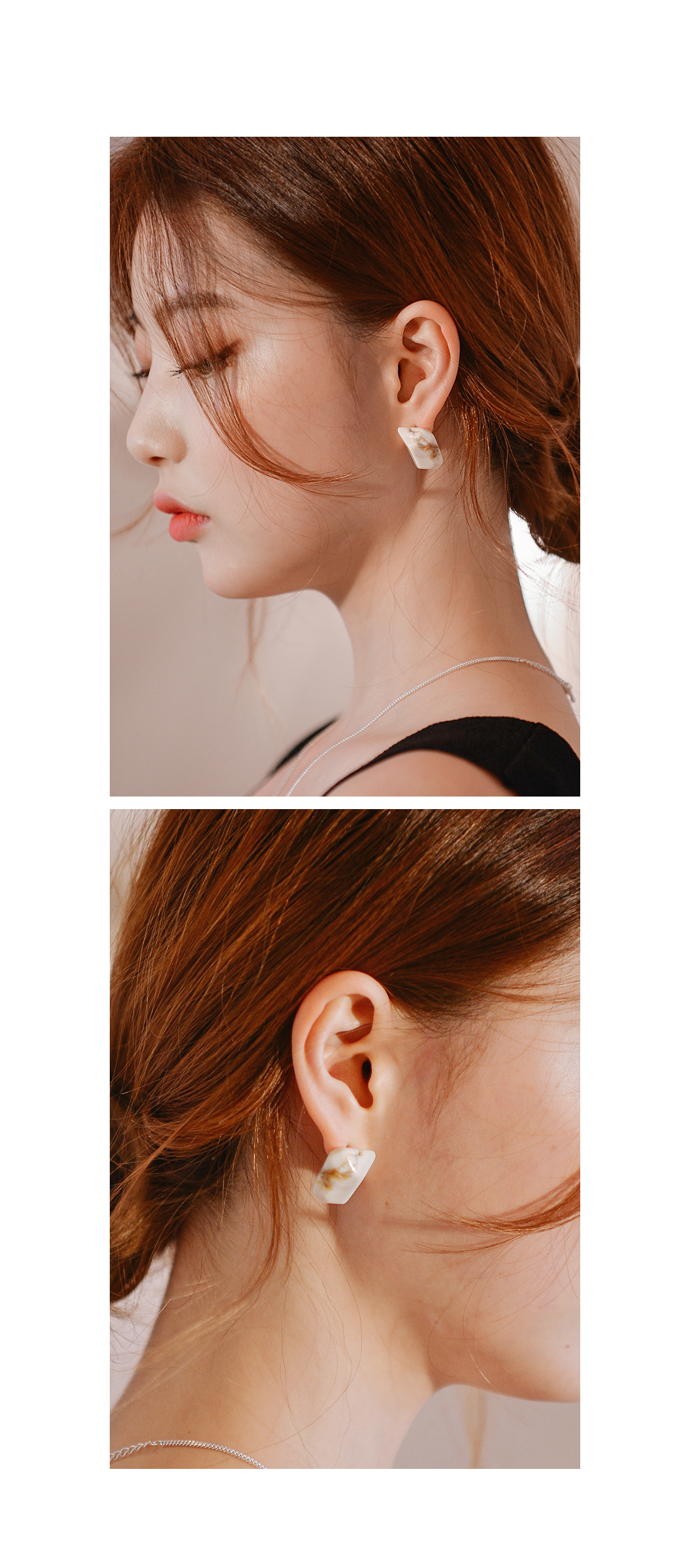 SPACE MARBLE STONE EARRING