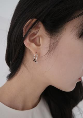 point ring earrings
