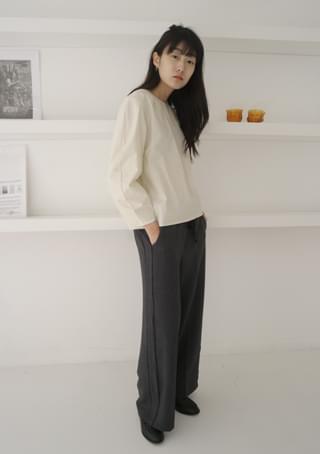 avant-garde sleeve blouse