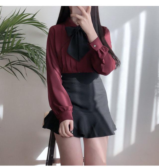 Self Made ♥ Royal Pinch Ribbon blouse