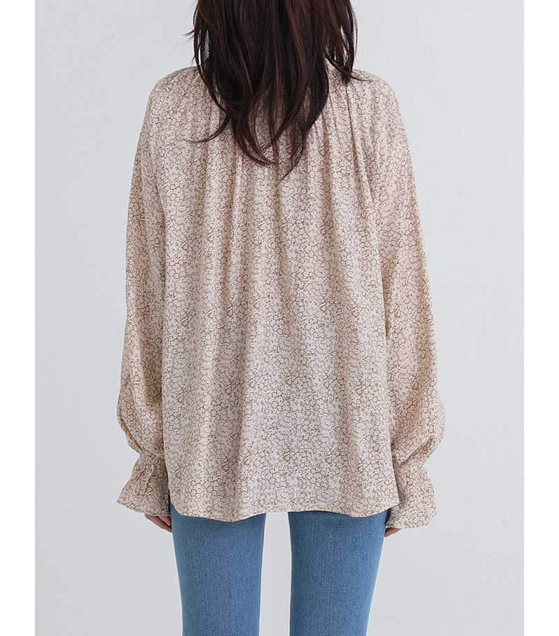 glow flower blouse