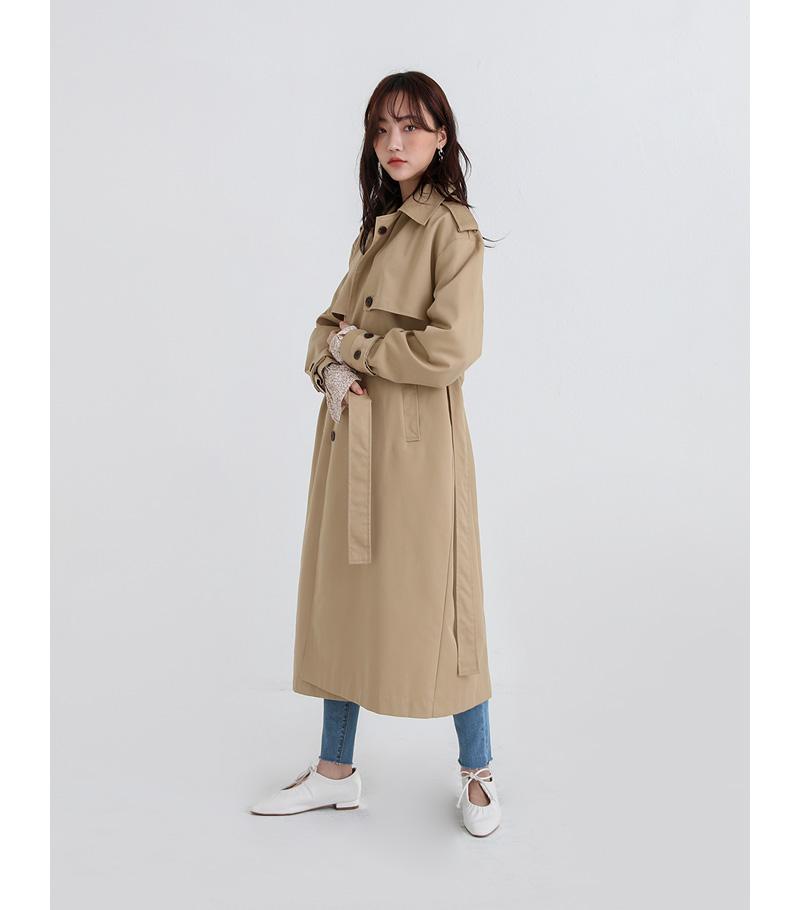 standing single trench coat