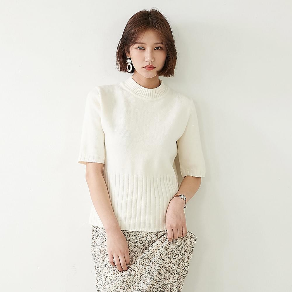 Non-bling short sleeve knit