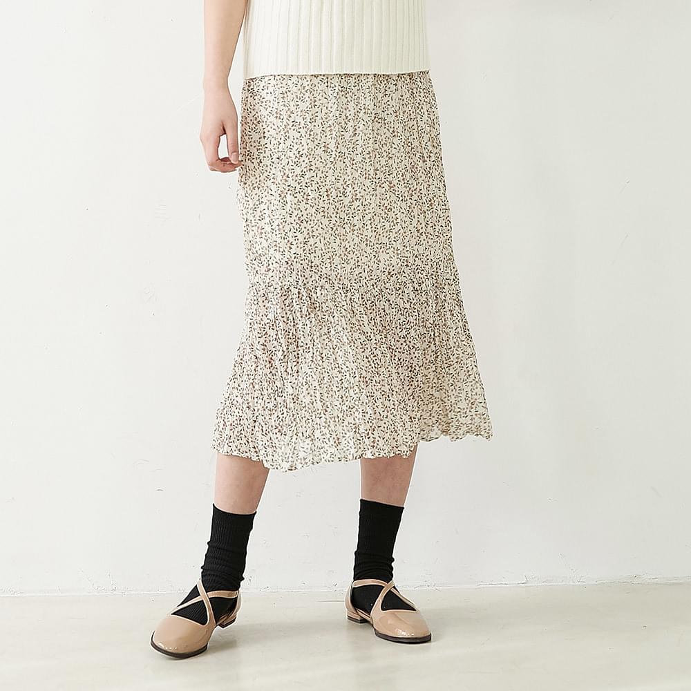 Flower Flower Wrinkle Skirt