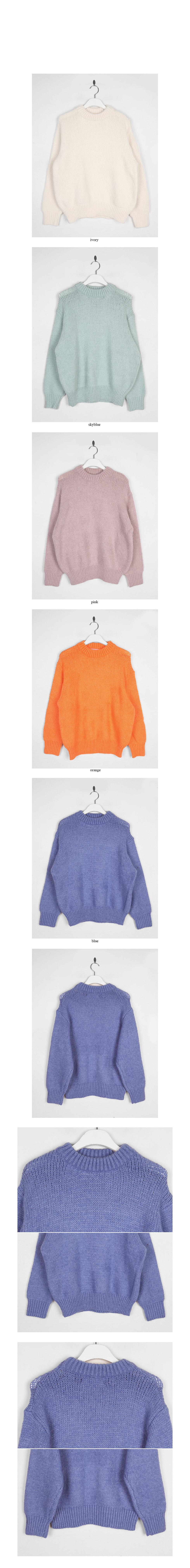vivid color oversized knit