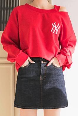 Multi Dark Denim Skirt