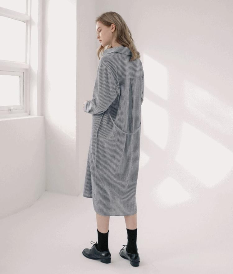 Daily Striped Shirt Dress