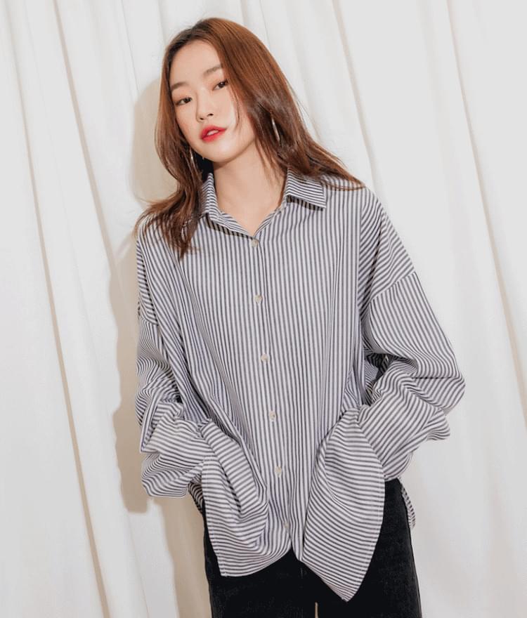 Park Si pit plaine striped shirt # planning special price # 7000 yen discount