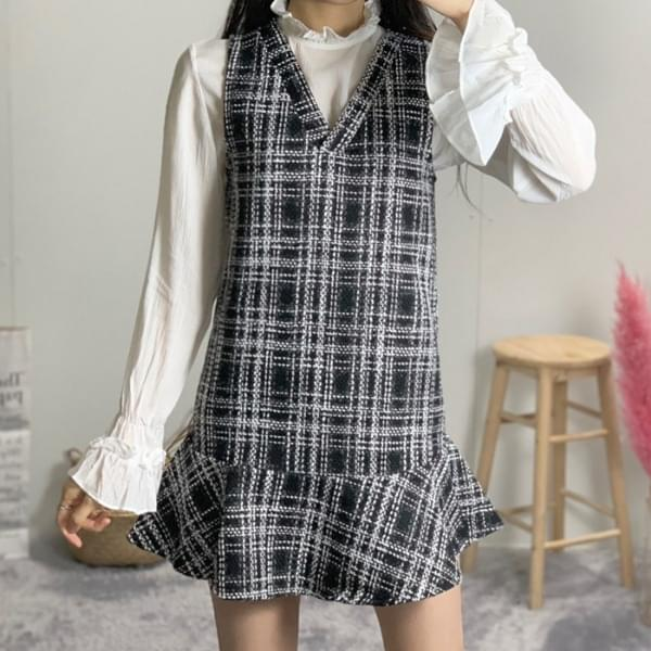 La Fleur Tweed Suspender Dress