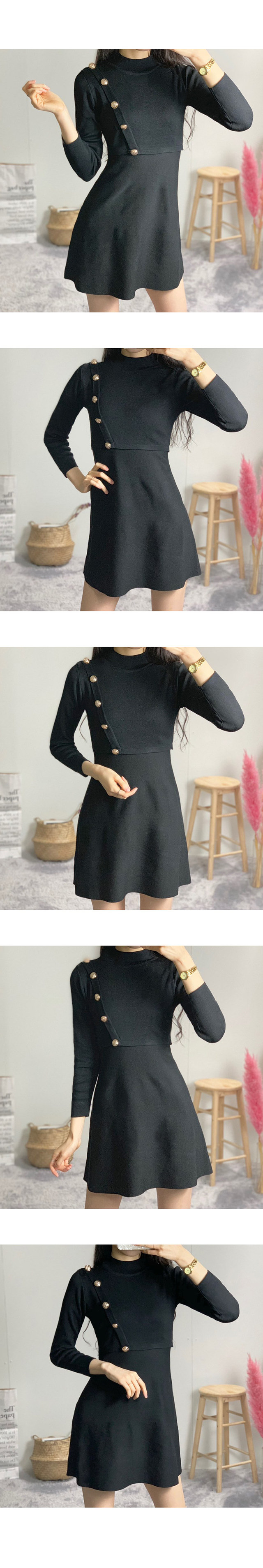 Sharon gold flare mini dress